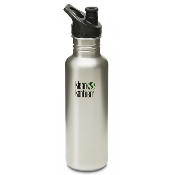 Klean Kanteen Classic 800ml 27oz Bottle - Brushed Stainless